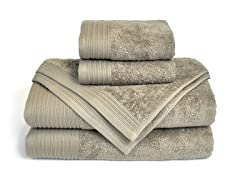 6-Piece Supima Cotton Towel Set-Sand