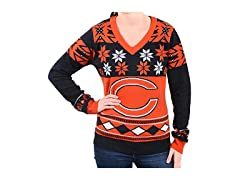 NFL Women's V-Neck Sweater, Chicago Bear