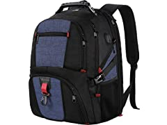 Matein Large Travel Bookbag, Unisex, Black