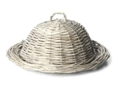 "Willow 19.5"" Round Plate with Domed Lid"