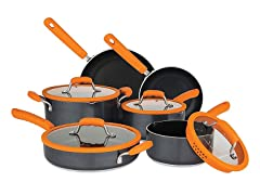 Chopped Aluminum 10 pc Set with Silicone Strainer Lids