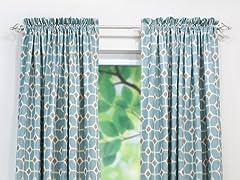 Sofie Rod Pocket Curtain Panel - Cadet - 3 Lengths