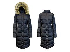 Heavyweight Parka Jacket+Faux Fur Hood