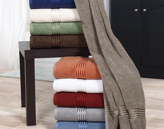 100 Egyptian Cotton Hotel 6 Piece Towel Set 10 Colors
