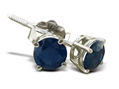 1/2ct Sapphire Earrings in Sterling Silver
