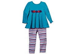Tunic & Leggings Set - Teal (12M)