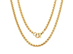 18kt Gold Plated Box Necklace Chain