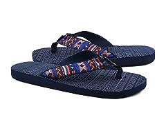 MUK LUKS® Men's Scotty Flip Flops, Blue