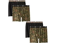 Men's Mossy Oak Moisture Wicking Boxer 4-Pack
