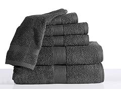 100% Cotton Low Twist 6PC Bath Towel Set