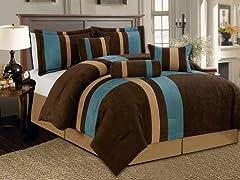 Reham 7pc Comforter Set - Aqua - 2 Sizes
