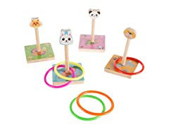 Zoo Animal Ring Toss Game Set for Preschoolers