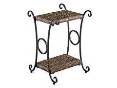 Animal Print Accent Table -  Leopard