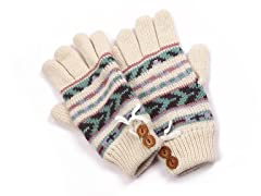 MUK LUKS® Women's Gloves, White/Purple