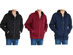 Men's Marled Sherpa Lined Full Zip Hoodie