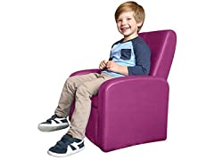 STASH Folding Kids Plush Lounge Chair