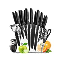 Deals on 17-Piece Stainless Steel Knife Set with Block