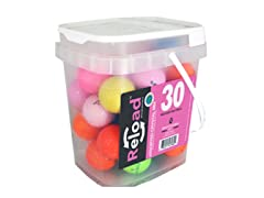30pk Reload Recycled Crystal Mix Golf Balls