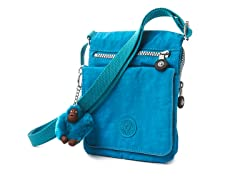 Kipling Eldorado Shoulder/Cross-Body, Turquoise Blue
