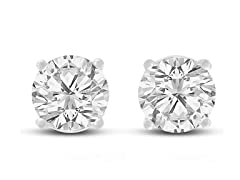 2ct Cubic Zirconia Stud Earrings