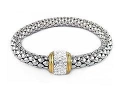 Stainless Steel White Stretch Bracelet