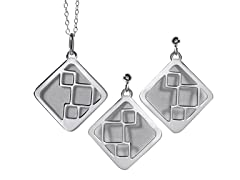 2-Flat Layered Kite Earrings & Pendant
