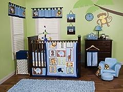 3pc Crib Bedding Set - Jungle 123