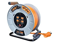 MasterPlug 100' Metal Extension Cord Reel