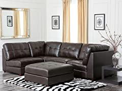 Madison Leather 5-Pc Sectional