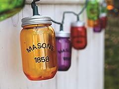 Mason Jar String Lights- 10 Count