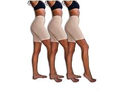 Sexy Basics Womens 3 Pack Spandex Shorts