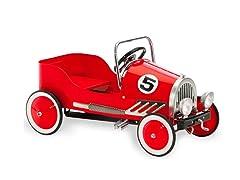 Red Retro Pedal Car