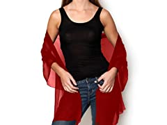 Kitara Silky Chiffon Wrap, Red