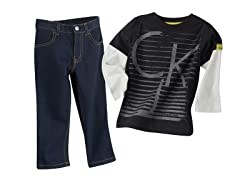 Logo Twofer Top & Jeans (3T-4)