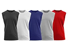 Mens Crew Neck Muscle Tank Top 5PK