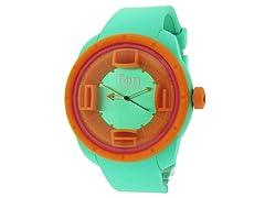Ten Beats 3H Green/Orange Watch