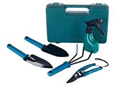 6pc Garden Tool Set with Carrying Case