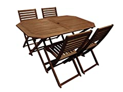 Balthazar Rectangle Table w/ 4 Chairs