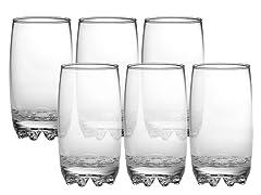 Bormioli Rocco Galassia 14oz Beverage Glasses Set of 6