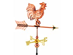 Pure Copper Weathervane w/Roof Mount