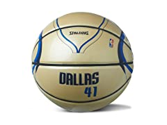 Nowitzki Under Glass Home Jersey Ball
