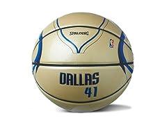 Nowitzki Under Glass Home Jersey Ball