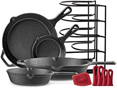 Cuisinel Cast Iron Cookware 5-PC Set