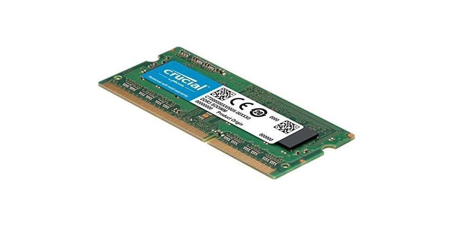 Memory for Mac Crucial CT8G3S160BM 8 GB DDR3//DDR3L, 1600 MT//s, PC3-12800, SODIMM, 204-Pin