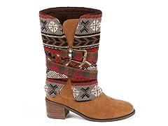 MUK LUKS®  Nicole Belted Cowboy Boot, Adobe Mud