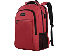 Matein Business Travel Backpack, Red/Pink
