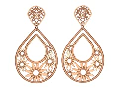 18 kt Rose Gold Plated Drop Earrings