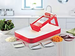 Mandoline Slicer with Cutting Board Combo