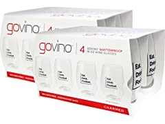 GoVino Football Themed Wine Glasses (8)