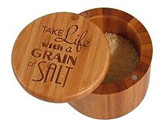Take Life w/a grain of Salt - Salt Box